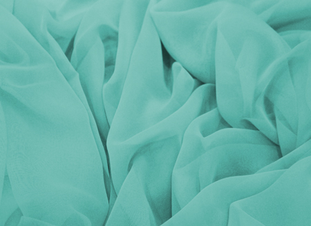 Luxury Georgette Aqua