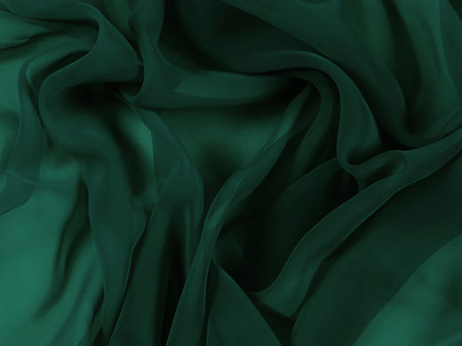 Luxury Georgette Forest Green UUTUUS