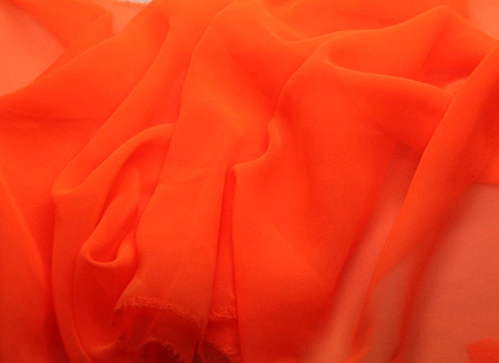 Luxury Georgette Orange